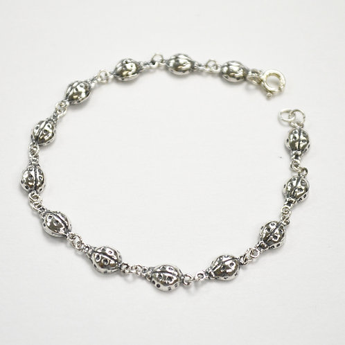 Lady Bug Sterling Silver Bracelet 542009