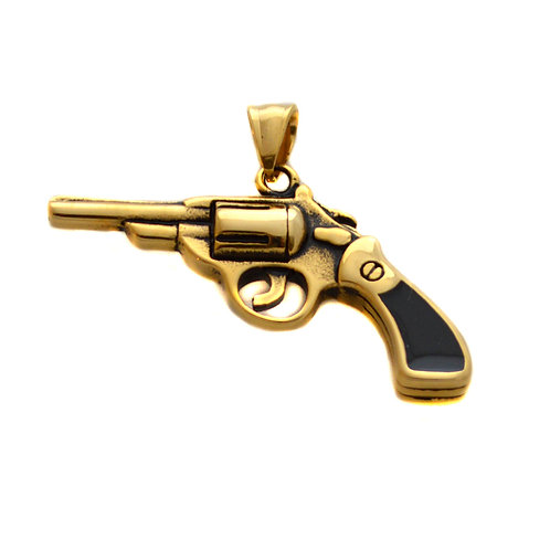 PISTOL Gold Plated Pendant (53x33mm)