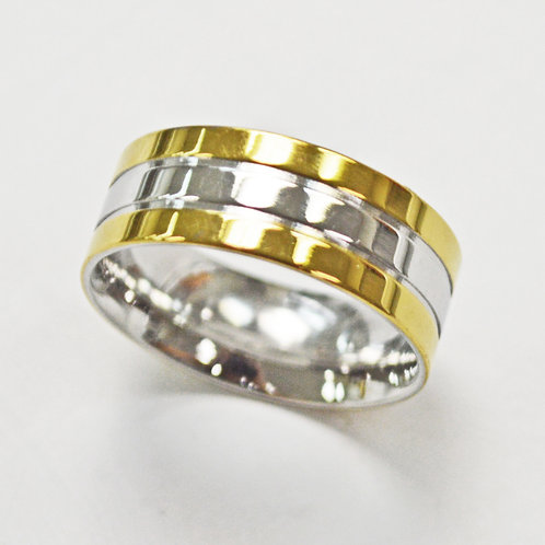 2 Tone Gold Plated Ring (8mm) 81-1325