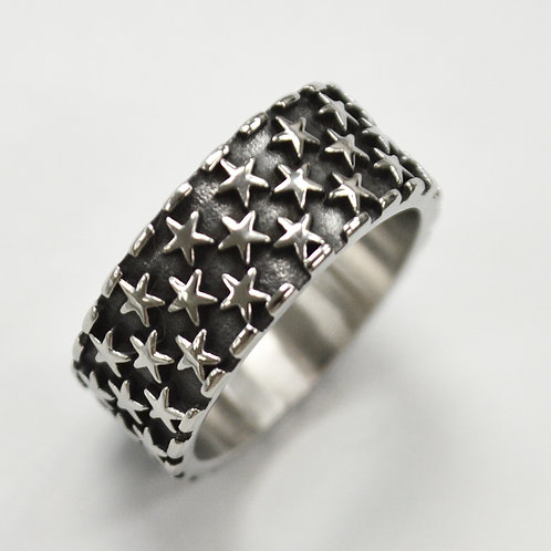 Stars Band Stainless Steel Ring 81-1370
