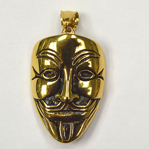 MASK Gold Plated Pendant (28x38mm)