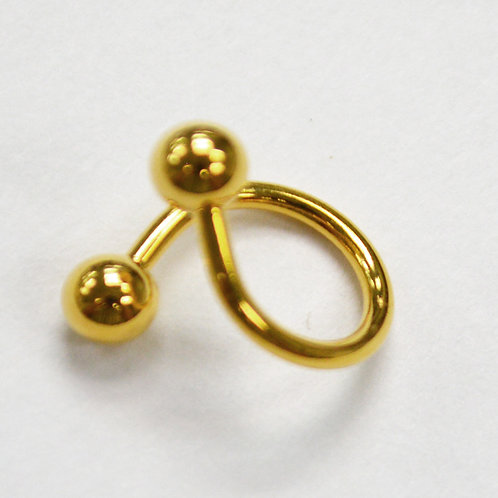 Titanium Spiral Belly Ring per pc