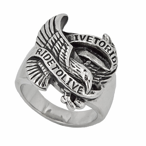 RIDE TO LIVE RING (20x22mm) 81-522