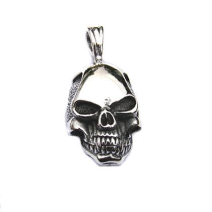 Skull Head Pendant Sterling Silver 561026-1