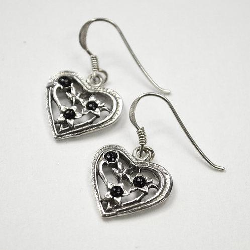 Heart Sterling Silver Earrings 535197