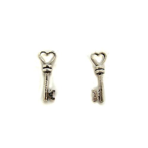 Key Stud Earring Sterling Silver 535108