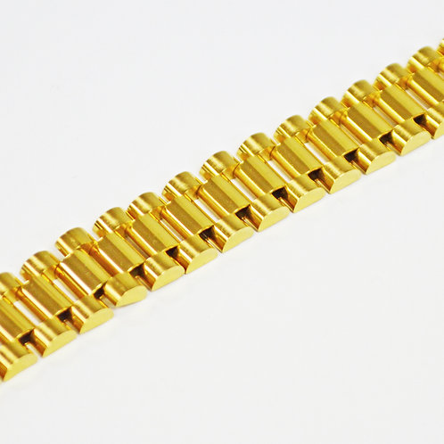 Designer Inspired Gold IP Plate  Bracelet (16mm) 84-1784G-16