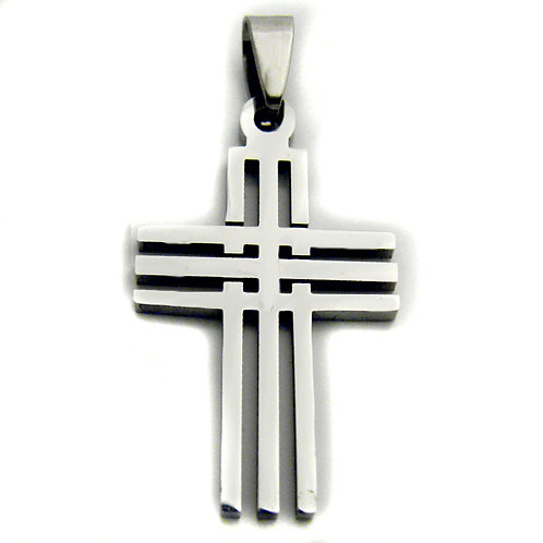 Cross Pendant Stainless Steel 86-628