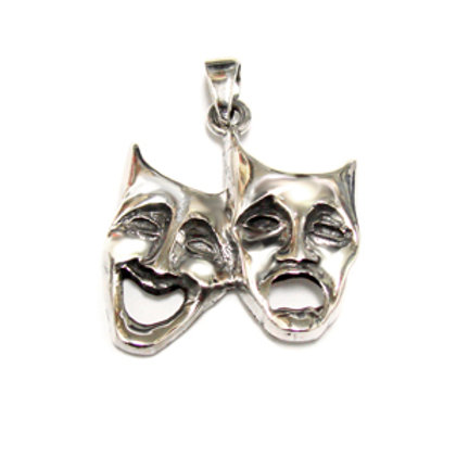 Comedy Tragedy Pendant Sterling Silver 561017