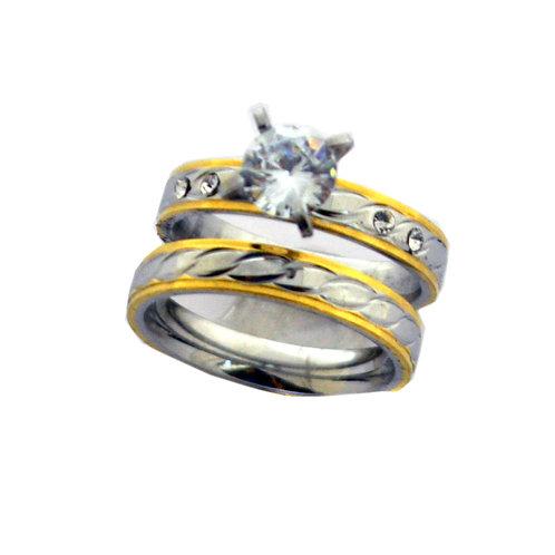 WEDDING SET RING (4x7mm) 81-1202