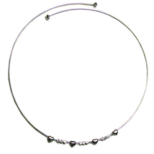 Collar with Heart Sterling Silver  551006