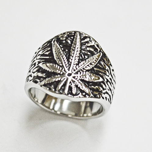 MARIJUANA LEAF RING (19mm) 81-1266S