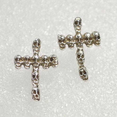 Cross Skull Stud Earring
