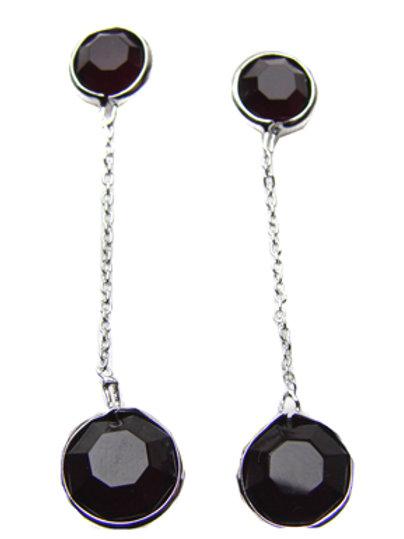 Crystal Stones Sterling Silver Earrings 534031