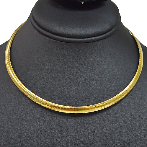 6mm Omega Gold IP Plated