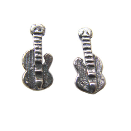 Guitar Stud Earring Sterling Silver 535028