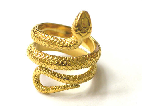 Snake Gold IP Plated Ring 81-1394G