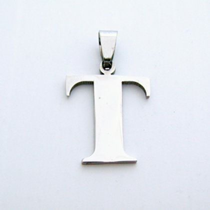 T Initial Pendant Stainless Steel (18x22mm)