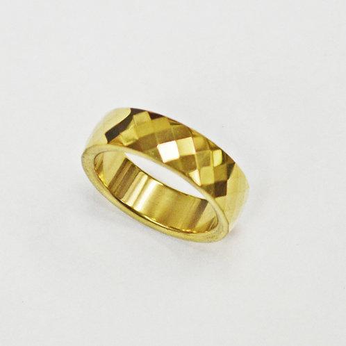 Diamond Cut Gold Plated Ring (6mm) 81-1298G