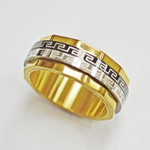 Greek key Spinner Ring 81-596G