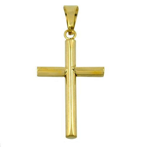 Cross Gold IP Plate Pendant 86-1002G