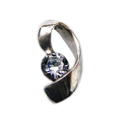 CZ Stone Pendant Sterling Silver 562069