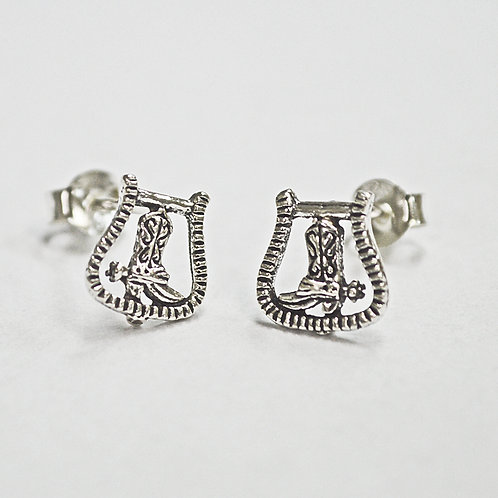 Boots/Spur Horseshoe Stud Earring