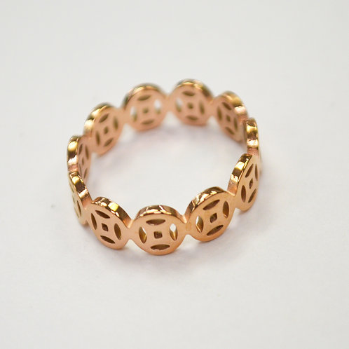 Rose Gold Stainless Steel Ring 81-1380R