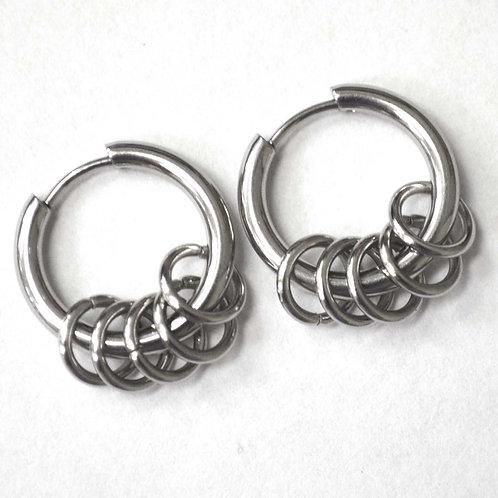Hoops Earrings Stainless Steel  83-730S