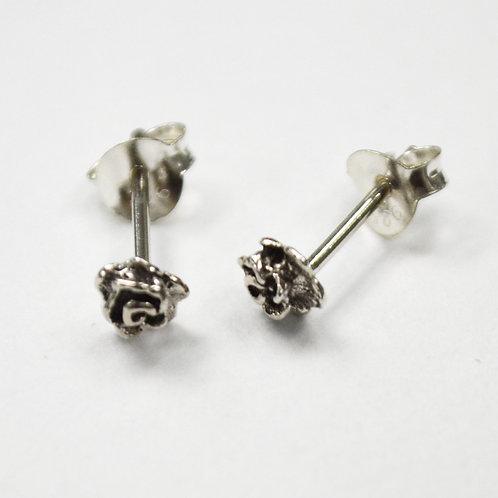 Rose Stud Earring Sterling Silver 535074