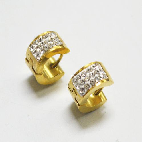 Gold Plated Huggies Earrings 83-748G-SM
