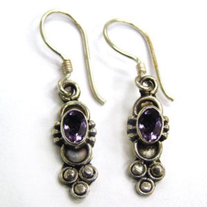 Amethyst Stone Dangling Earring 534044