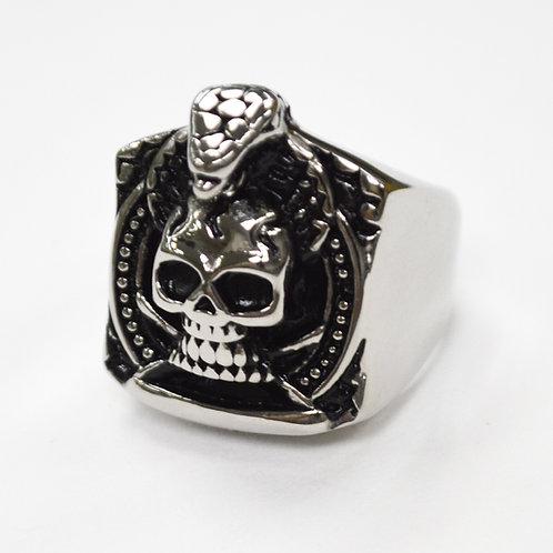 Skull Stainless Steel Ring  81-1371
