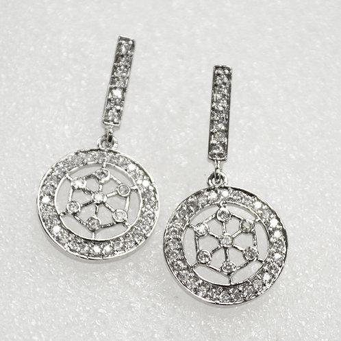 Designer Inspired Sterling Silver Earrings 533010