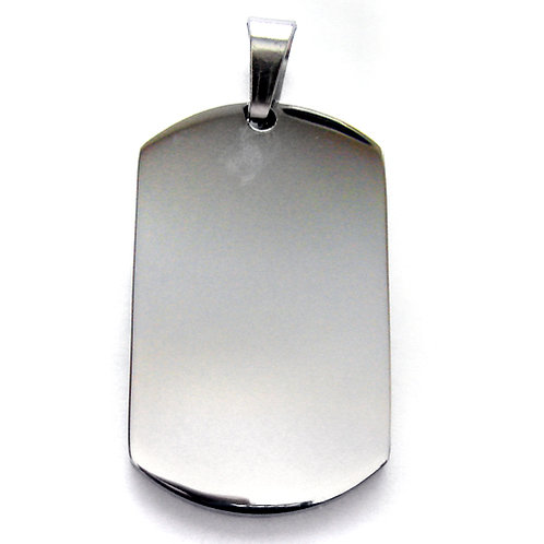 Dog Tag  Stainless Steel Pendant 86-563S