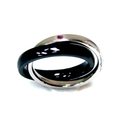 Double 2 Tone Band Ring (3mm) 81-266