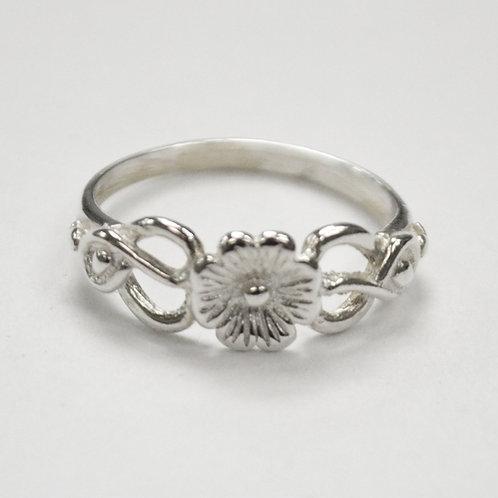 Daisy Flower Ring Sterling Silver 511288