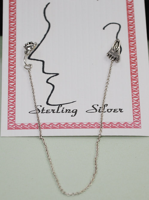 Sterling Silver Nose to Ear  Jewelry  531134