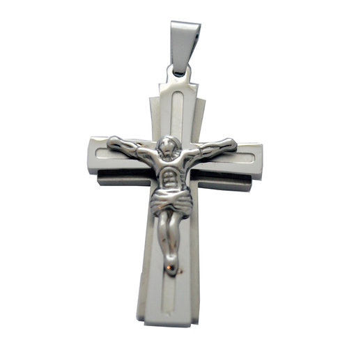 Crucifix  Stainless Steel Pendant 86-1990S