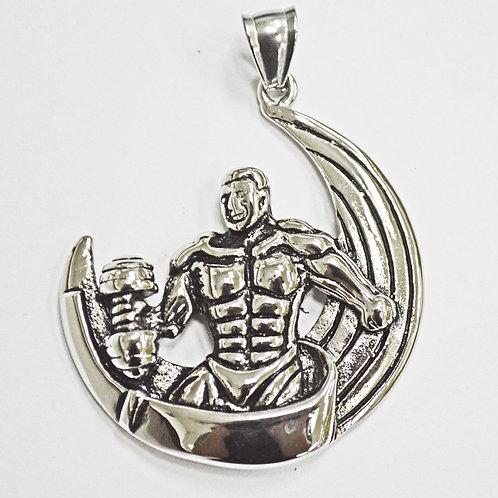 Bodybuilder in half moon Pendant