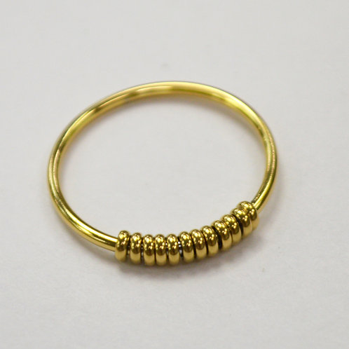 Gold Plated Stainless Steel Tube Ring  81-1388G