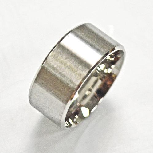 10mm Flat Plain Matte Finish Band Ring 81-304-10