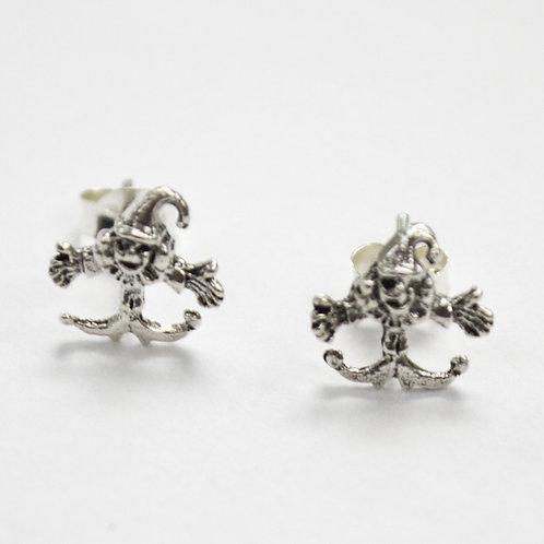 Clown Stud Earring Sterling Silver 535125
