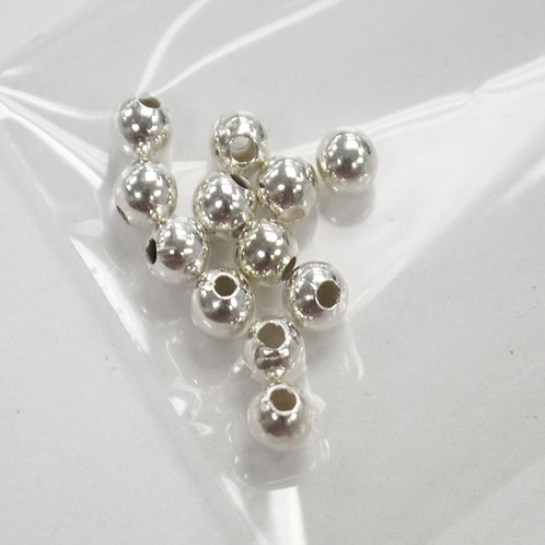 5mm Bead Sterling Silver (12 pcs)