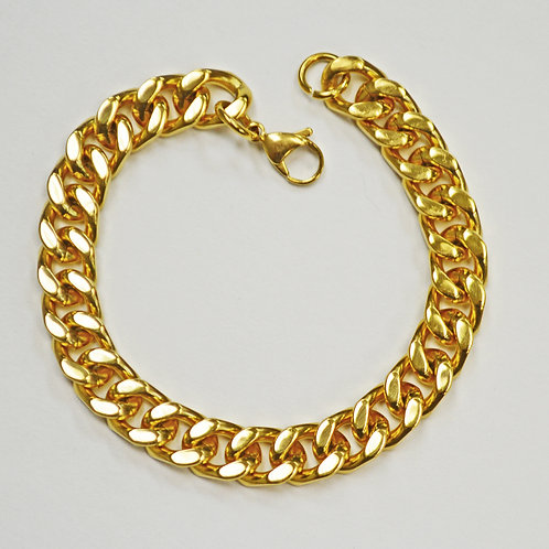 10MM CUBAN GOLD IP PLATED BRACELETS