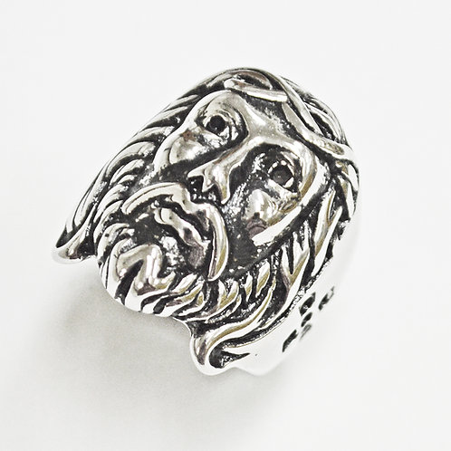 Jesus Face Stainless Steel Ring (28mm) 81-1323