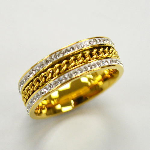 Stone Stainless Steel Ring 81-1390