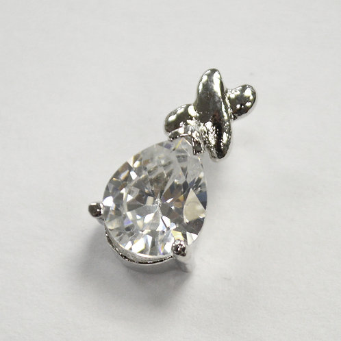 CZ Stone Pendant Sterling Silver 562132