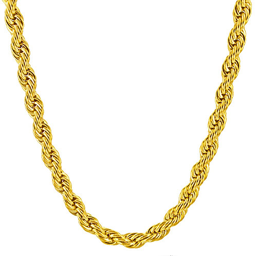 5mm Gold IP Plated Rope 85-143G-5