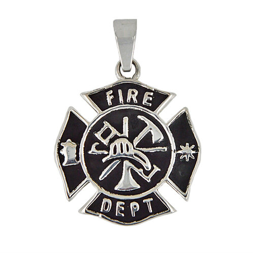 Fire Dept Medallion Pendant 86-866